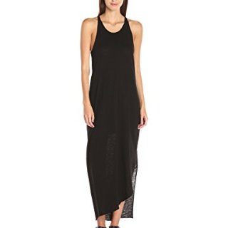 Stateside Women's Supima Slub Jersey Maxi Dress, Black, L