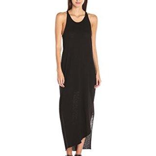 Stateside Women's Supima Slub Jersey Maxi Dress, Black, L