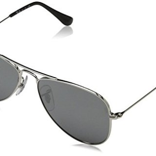 Ray Ban 212/6G Jr. Aviator Junior (Toddler/Kid) - Shiny Silver - 50 mm