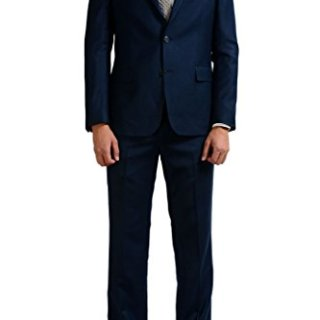 Versace Collection Men's 100% Wool Blue Two Button Suit US 42 IT 52;