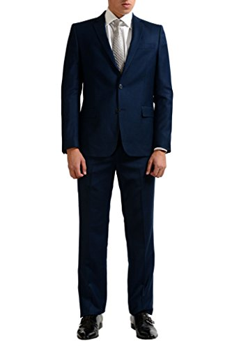 Versace Collection Men's 100% Wool Blue Two Button Suit US 42 IT 52;