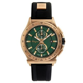 Salvatore Ferragamo Sport Men's Swiss Made Watch, Bronze Case Color, Green Dial Color