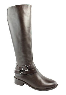 French Connection Yulia Brown Leather Mid-Calf Boots Womens Boots Size 5.5 New