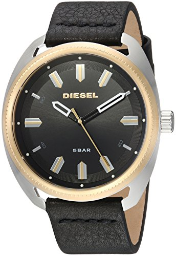 Diesel Men's ''Fastbak'' Quartz Stainless Steel and Leather Casual Watch, Color Black (Model: DZ1835)