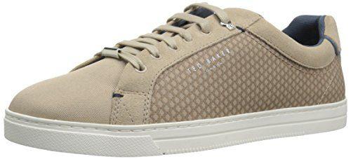 Ted Baker Men's Sarpio Sneaker, Light Tan Textile, 7 D(M) US