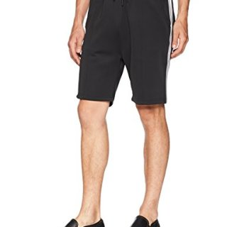 Publish Brand INC. Men's Mathias-Premium Comfort Side Ribbed Shorts, Black, 36