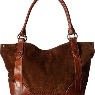 Frye Melissa Whipstitch Shoulder, Chestnut Suede and Leather