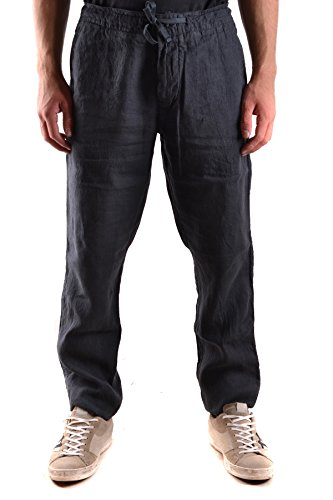 Stone Island Men's Blue Linen Pants