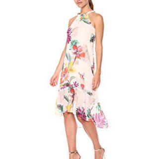 Trina Turk Women's Rosales Dress, Flawless Beige, Extra Large