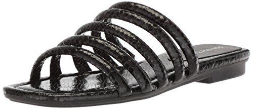 Donald J Pliner Women's Kip Slide Sandal, Black, 7.5 Medium US
