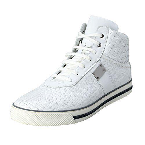 Gianni Versace Men's Leather Hi Top Sneakers Shoes US 13 IT 46;