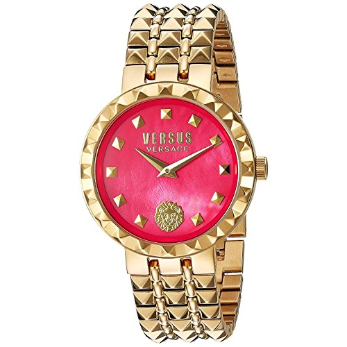 Versus by Versace Women's 'CORAL GABLES' Quartz Stainless Steel Casual Watch, Color:Gold-Toned