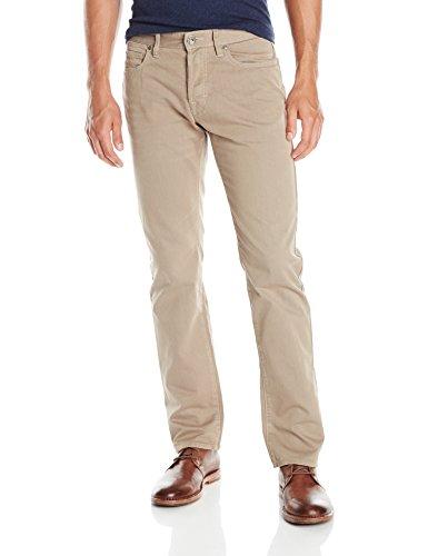 BOSS Orange Men's Regular Fit Coated Canvas Jean, Khaki, 36x32