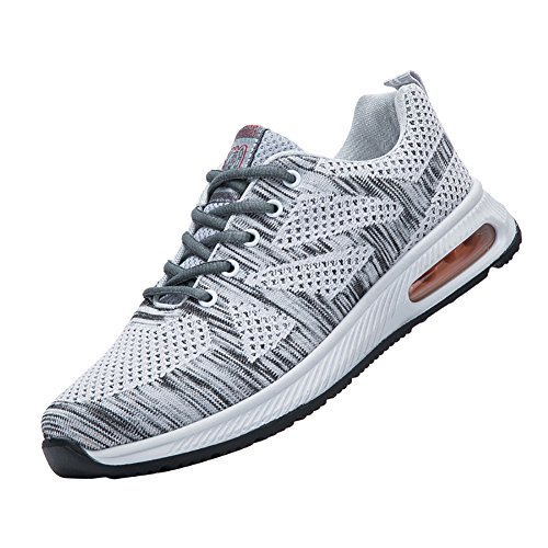 Mens Breathable Lightweight Fabric Shock Absorption Fitness Tennis Sports Running Sneaker Shoes