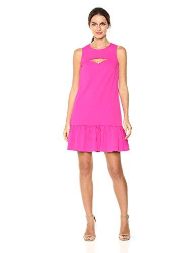 Trina Trina Turk Women's Shea Dress, Brilliant Fuchsia, M