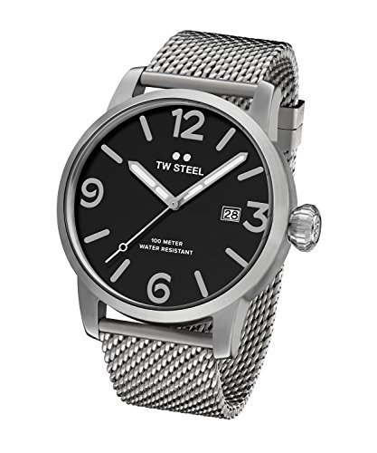 TW Steel Men's 'Maverick' Quartz Stainless Steel Casual Watch, Color:Silver-Toned (Model: MB12)