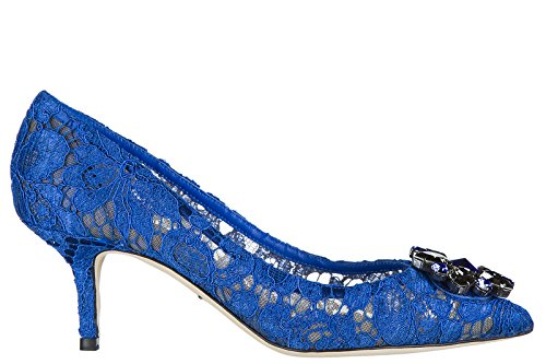 Dolce & Gabbana Women's Pumps Court Heel Shoes Bellucci blu US Size 10