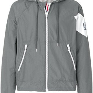 Moncler Men's Grey Polyester Outerwear Jacket