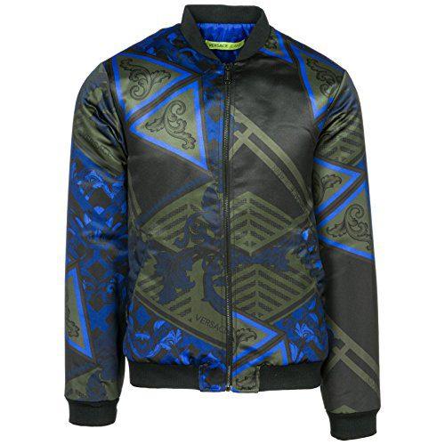 Versace Jeans Men's Outerwear Jacket Blouson blu US Size 48 (US 38)