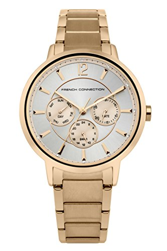 French Connection Women's Quartz Metal and Stainless Steel Casual Watch, Color:Rose Gold-Toned (Model: FC1300RGM)