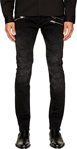 Just Cavalli Men's Destroyed Zipper Jeans Black Jeans