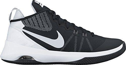 NIKE Mens Air Versitile Basketball Shoe Black/Metallic Silver-Dark Grey Size 12