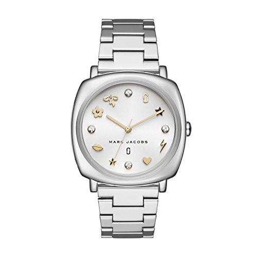 Marc Jacobs Women's 'Mandy' Quartz Stainless Steel Casual Watch, Color Silver-Toned