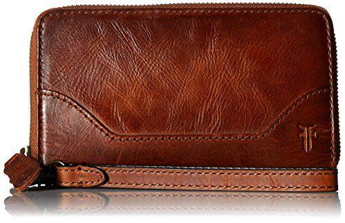 FRYE Melissa Zip Phone Wallet, Cognac