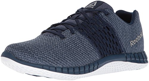 Reebok Men's Print Run Ultk Cross Trainer, Coll. Navy/Washed Blue/Rain Cloud/White/Pewter, 12 M US