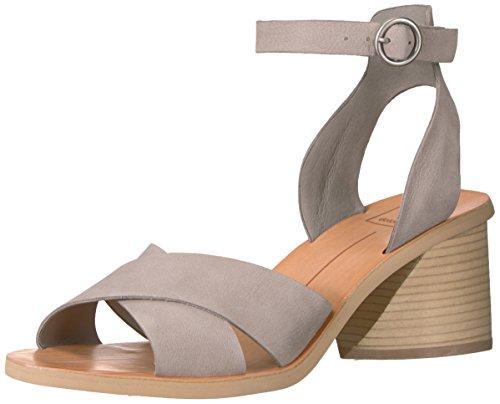 Dolce Vita Women's Roman Heeled Sandal, Grey Nubuck, 6.5 M US