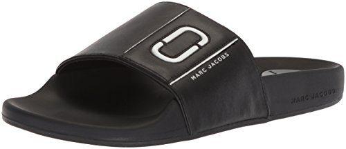 Marc Jacobs Women's Cooper Sport Slide Sandal, Black, 38 M EU (8 US)