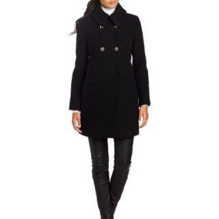 Trina Turk Women's Chloe Text Coat, Black, 10