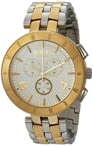 Versus by Versace Men's 'Logo Gent Chrono' Quartz Stainless Steel Casual Watch, Color:Two Tone