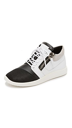 Giuseppe Zanotti Women's Sneakers, Black/White, 36.5 IT