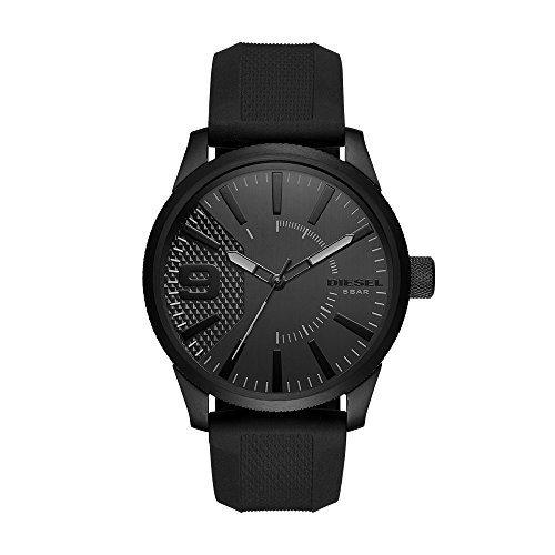Diesel Men's RASP Black Ip Silicone Watch