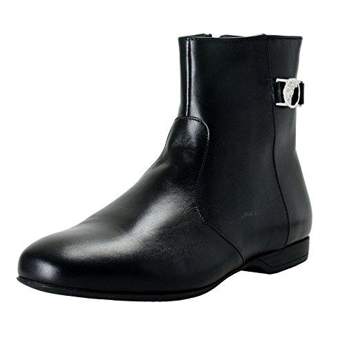 Versace Collection Men's Black Leather Ankle Boots Shoes Sz US 10 IT 43