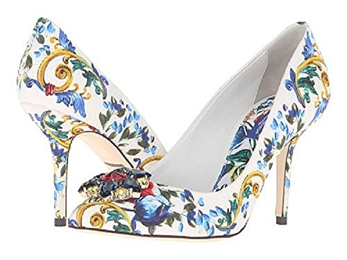 775d1a5040856 Dolce & Gabbana Women's Floral and Baroque Print Heels, US 8.5/EU 39 Clout  Wear Fashion for Womens, Fashion for Mens, Fashion for Kids