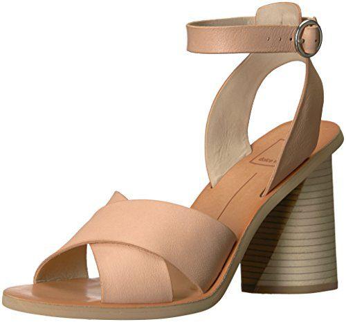 Dolce Vita Women's Athena Heeled Sandal, Natural Leather, 10 M US