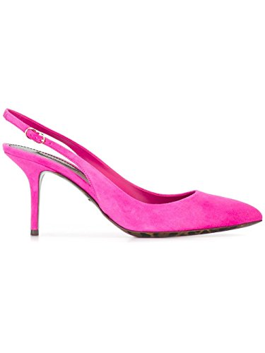 Dolce e Gabbana Women's Fuchsia Suede Heels