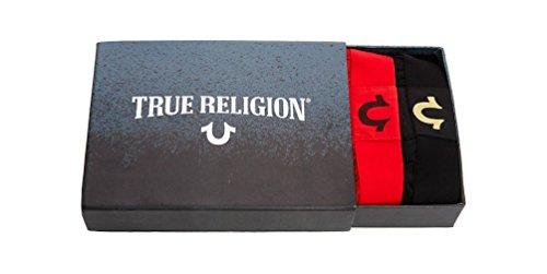 59d53bf59 True Religion Men's 2 Pack Boxer Briefs Underwear Box Set (Black/Red ...