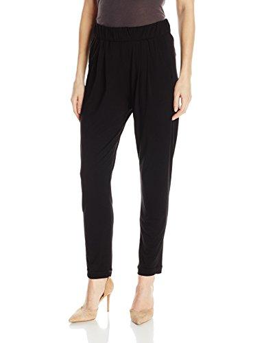 Enza Costa Women's Stretch Silk Jersey Easy Pant, Black, M
