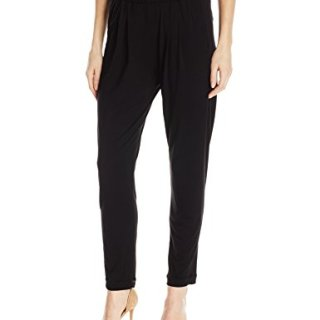 Enza Costa Women's Stretch Silk Jersey Easy Pant, Black, M