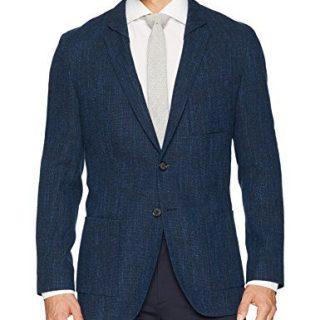 HUGO by Hugo Boss Men's Hugo Oversized Unconstructed Navy Sportcoat-Ulises, Open Blue, 42R
