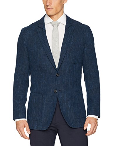 HUGO by Hugo Boss Men's Hugo Oversized Unconstructed Navy Sportcoat-Ulises, Open Blue, 42R
