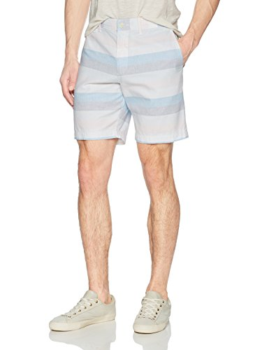 "Original Penguin Men's P55 8"" Horizontal Dobby Stripe Short, Vintage Indigo, 30"