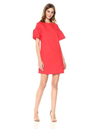 A|X Armani Exchange Women's Structured Shoulder Dress, Poppy Red, 8