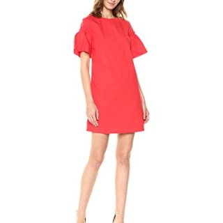 A|X Armani Exchange Women's Structured Shoulder Dress, Poppy Red, 8