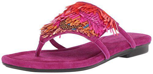Donald J Pliner Women's Kya Slide Sandal, Magenta, 7 Medium US