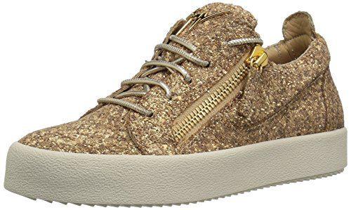 Giuseppe Zanotti Women's Sneaker, Sable, 7 B US