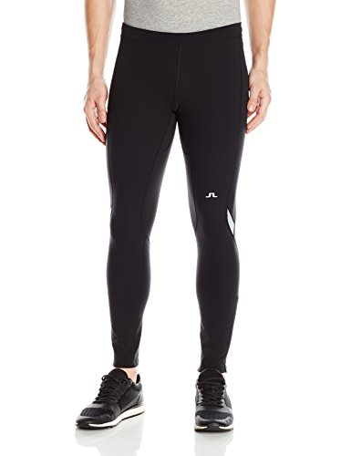 J.Lindeberg Men's M Running Tights Comp. Poly, Black, S